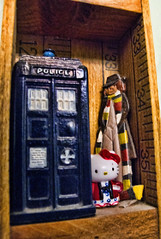 2011-01-30 The Doctor meets his new companion (Mary Wardell) Tags: canon project miniatures pin hellokitty doctorwho 365 tardis g11