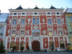 Leoben, Styria (Austria), Art of Facades of Leoben (Hauptplatz) - Hacklhaus (Josef Lex (new missions not yet accomplished!)) Tags: eu hauptplatz leoben anglesanglesangles hacklhaus arethisbuildings