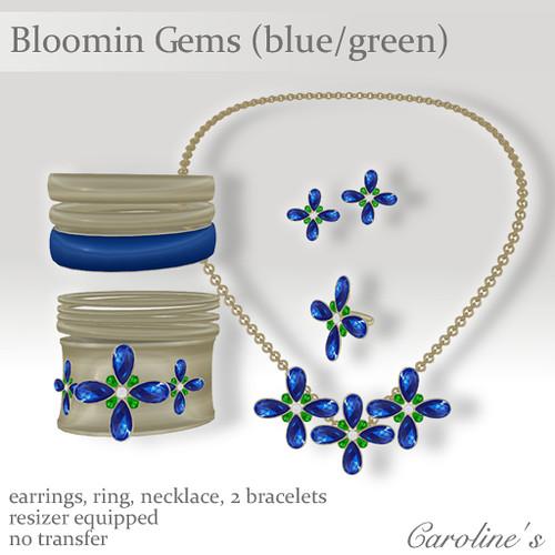 Caroline's Jewelry Bloomin Gems (blue-green)