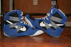 combatant ultra wrestling shoe going to weaverelite (austinrosecdwrestling (anyone want size 15 rulons)) Tags: ultra combatant