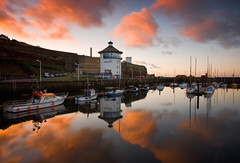 Whitehaven Marina (.Brian Kerr Photography.) Tags: sunset sea sky seascape clouds marina landscape boats coast coastal cumbria whitehaven thebeacon briankerrphotography
