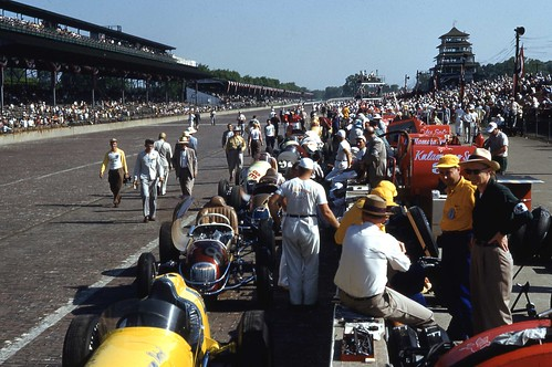 Pit Lane before the 1953 Indianapolis 500
