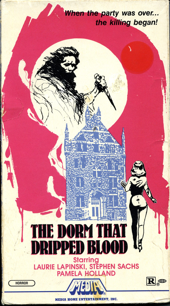 The Dorm That Dripped Blood (VHS Box Art)