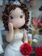 Detalhe noivinha (wip) (Pra Você! Criações em artesanato e decoração) Tags: biscuit coldporcelain