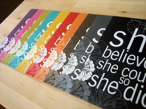 Set of 3 She Believed photo prints 5x7 - Pick your colors