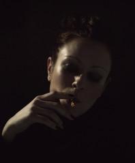 embers (hanna.bi) Tags: portrait woman cigarette smoke embers hannabi