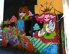 graffiti le gabut, la rochelle (thierry llansades) Tags: streetart wall painting graffiti mural graf spray peinture urbanart painter 17 graff larochelle aerosol bombing graffitis fresque atlantique gabut legabut frechgraff