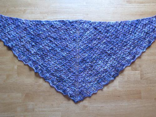 Arrowhead shawl