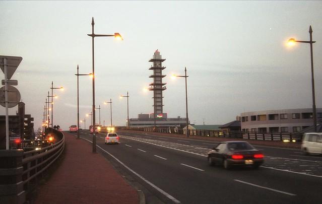 道路の橋のフリー写真素材