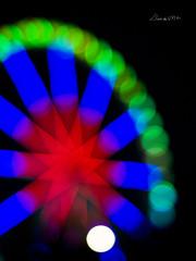 Noria* ( Lluvia fotografa) Tags: espaa color luz valencia noche europa feria olympus colores noria e520 lluviadevargas