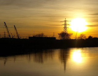 Electric Sunset in Preston