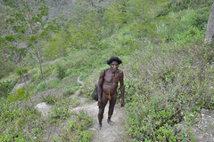 the dani man (konno67) Tags: trip travel people man hair naked indonesia penis costume traditional dani ornaments valley papua   baliem   sheath   koteka