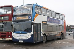 Stagecoach in Hull 19686, FX60HFH. Philip Larkin. (EYBusman) Tags: park new city bus station transport kingston 400 alexander hull dennis brand philip stagecoach larkin upon interchange enviro paragon frequento eybusman fx60hfh