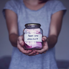 (Noukka Signe) Tags: hands text fear future dreams hopes jar concept weeks signe 52 insecurities noukka