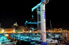(Dan in Mars) Tags: light sea mer france reflection dan water night marina french boat photo marseille nikon europe exposure riviera image south paca exposition reflet lumiere lon provence midi bateau nuit province vieuxport sud marseilles marsiglia d90 dancissokho