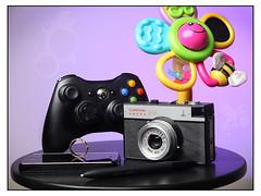 Pox in a Box (Pierre Pocs) Tags: camera pen toy photo engagement purple sunday xbox ring identity wacom smena iphone strobist fotosondag fs110213 sjalvbild