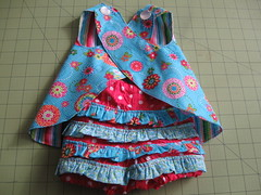 Baby Criss-Cross top & Ruffled Bloomers