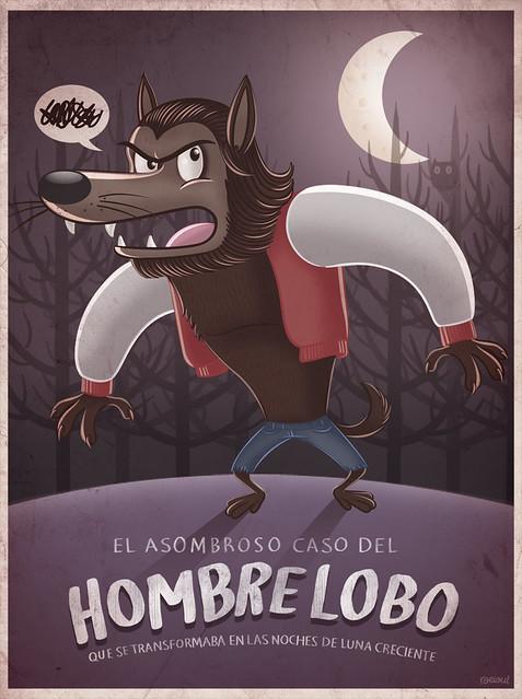 Hombre Lobo ilustración