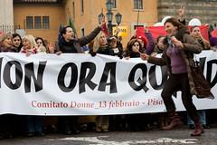 """""""Se non ora quando?"""" a Pisa(Italian women's protest) (patrizia.lungonelli) Tags: italian protest womens pisa donne toscana manifestazione comitato abigfave 13febbraio senonoraquando italianwomensprotest"""