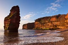 Ladram Bay, South Stack (Bruce Little) Tags: uk england beach sunrise sandstone coastal devon seastack jurassiccoast ladrambay southwestcoastpath shinglebeach