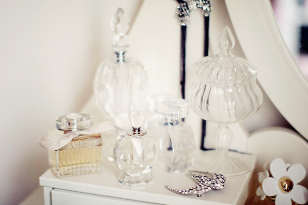 Urban Outfitters perfume bottle - Zara home candy bottle - Sonia Rykiel broach - Chloé perfume