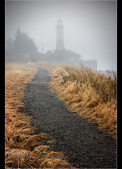 The lighthouse.. (Digital Diary........) Tags: uk morning lighthouse mist fog sunrise hale mersey widnes chrisconway