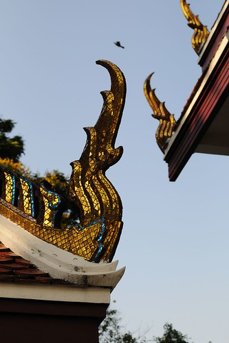 Temple au Golden Mount, Bangkok, Thaïlande.