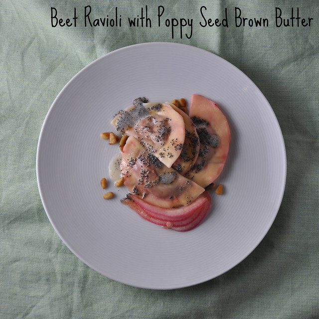 ... : Beet Ravioli with Poppy Seed Brown Butter - Turntable Kitchen