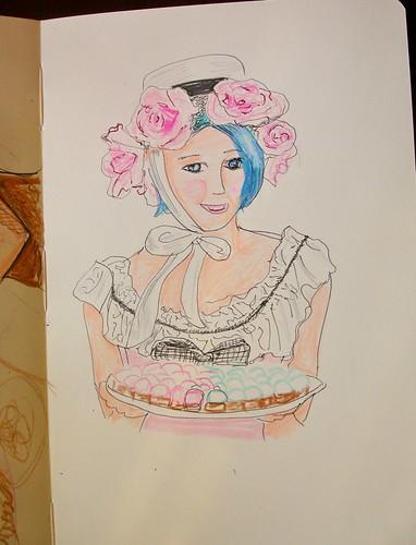 Michelle - Colored Pencil Sketch