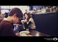American Girl (Rick Nunn) Tags: portrait coffee girl bar reading student ef28mmf18usm vsortpop