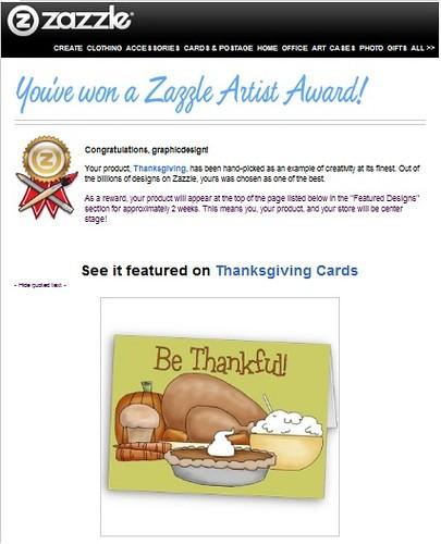 Zazzle Artist Award