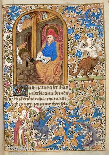013- Ms. lat. 33- ©Genève, Bibliothèque de Genève- livre d'Heures à l'usage de Paris-f 17r