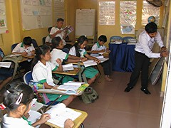 english lesson (mrcharly) Tags: poverty school people students kids youth children asia cambodia classroom orphanage teacher cambodja cch kampuchea