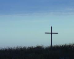 Cross in the Sunset on Bolivar Peninsula (maorlando - God keeps me as I lean on Him!!) Tags: blue sunset sky usa silhouette texas cross bolivarpeninsula top20blue