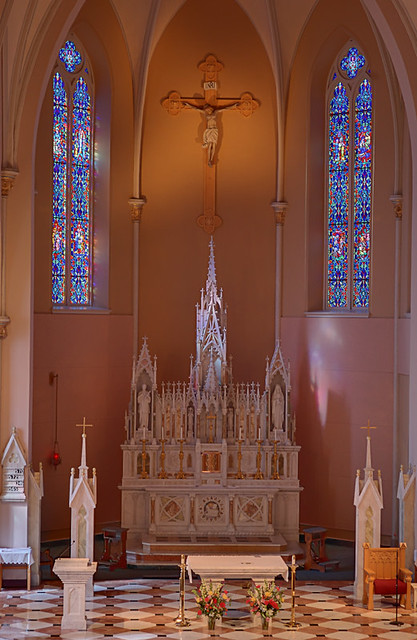 Saint Mary Roman Catholic Church, in Alton, Illinois, USA - sanctuary