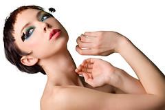 [フリー画像] 人物, 女性, 化粧・メイク, スタジオ, ショートヘア, 201102232100