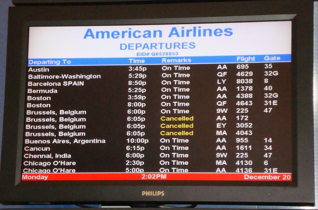 3/4ths flights canceled