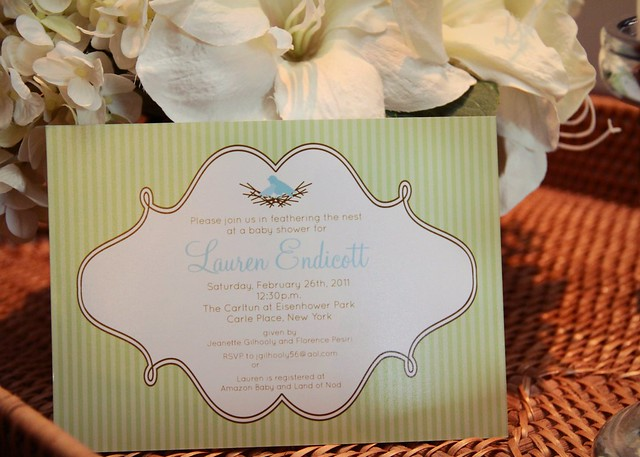Feathering the Nest Baby Shower Invitation by Dimple Prints (etsy)