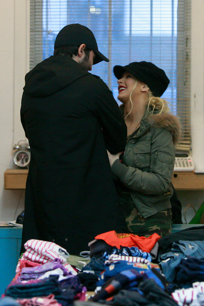 Exclusive Christina Aguilera and new boyfriendMathew Rutler shopping for children's clothing together in  Hollywood.