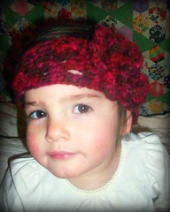 childrens crochet headband with flower (backporchmoon) Tags: crochet headband childrenspicnikfebruaryiv