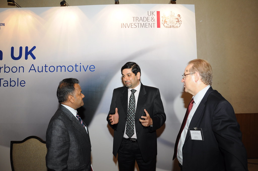 Senior UKTI Automotive Adviser with Delegates at SIAT 2011