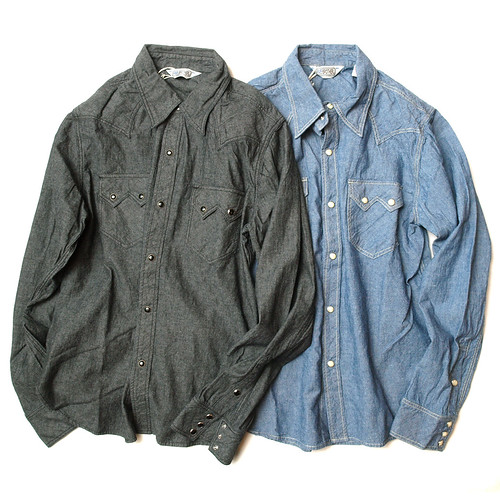 Five Brother / L/S Chambray Western Shirt
