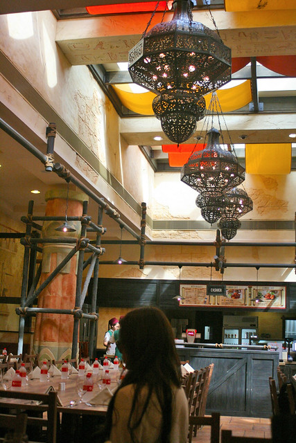 The Egyptian themed buffetaria serves Turkish, Lebanese, Indian and Mediterranean