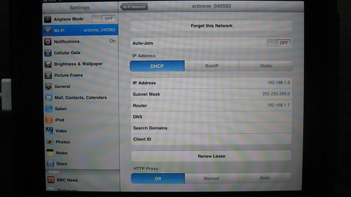 iPad Ad Hoc WiFi Connection