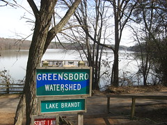 Greensboro Watershed sign at Lake Brandt Photo