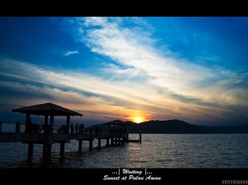 Sunset @ Pulau Aman 2011