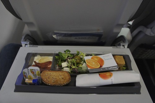 Frankfurt-Munich, Lufthansa Business class meal