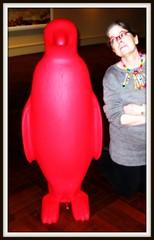 Penguin Parade (elycefeliz) Tags: ohio red penguin cincinnati artmuseum 21cmuseum crackingartgroup