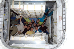 Crews of Expedition 26 and STS-133 inside Leonardo! (astro_paolo) Tags: astronaut nasa leonardo iss esa internationalspacestation europeanspaceagency pmm expedition26 sts133 magisstra