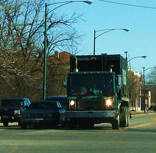 Westbound Veola Waste Services Mack garbage truck. River Grove Illinois USA. Wednsday, March 2nd, 2011. by Eddie from Chicago